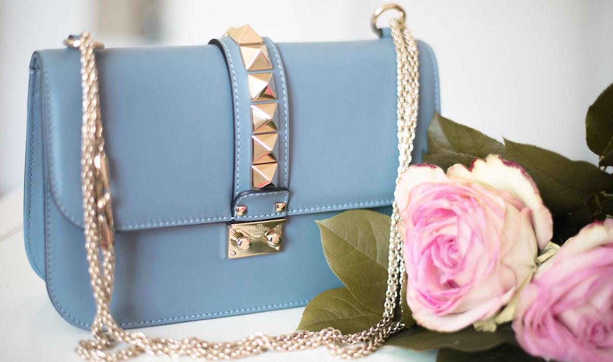 valentino glam lock bag medium grey blue g12 fashionblog münchen