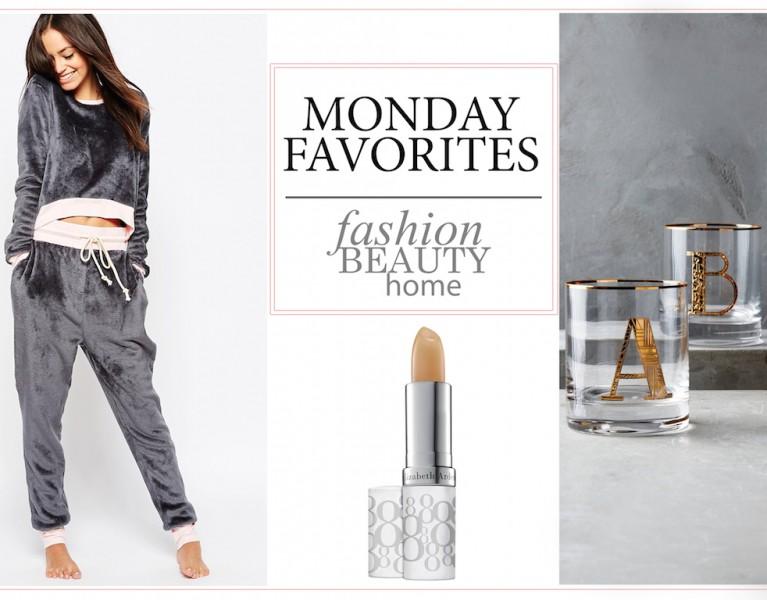 monday favorites fashion blog münchen lippenpflege gemusterte schlafanzüge interior mit monogram
