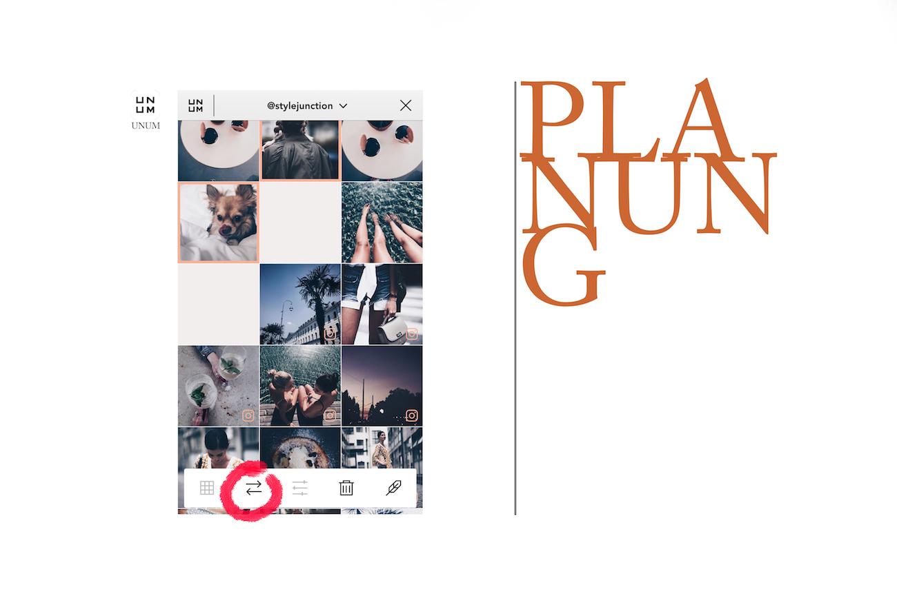 unum app Planung Instagram bearbeiten schöner Instagram feed