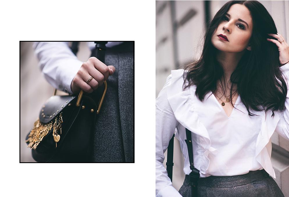 outfit chloe hudson culottes rüschen bluse fashion blog münchen