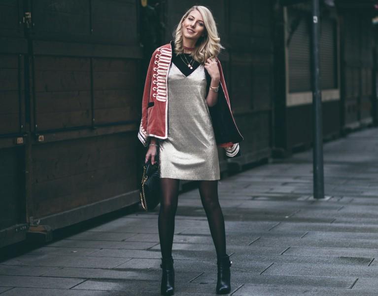 christmas eve outfit samt jack slip on dress  fashion blog münchen