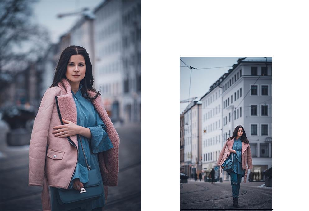 fake Lammfell jacke kombinieren jeans valentino fashion blog münchen