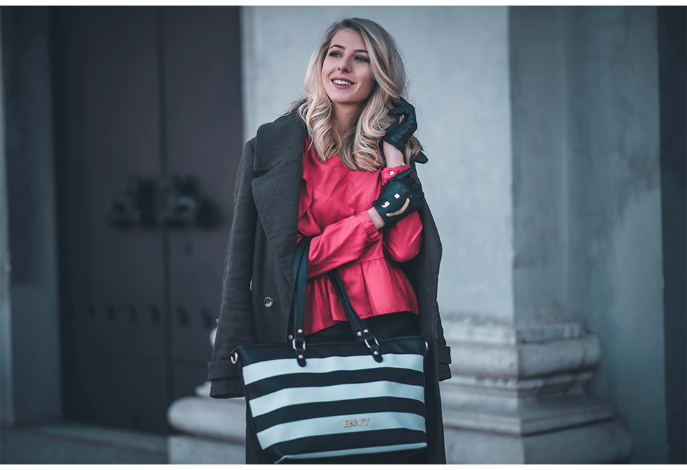 outfit house of envy tasche rote bluse fashion blog münchen