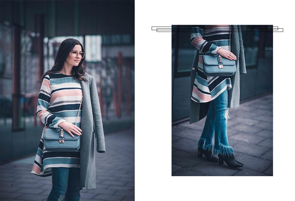 klein gestreift Zara über home jeans schlag Valentino fashion blog München