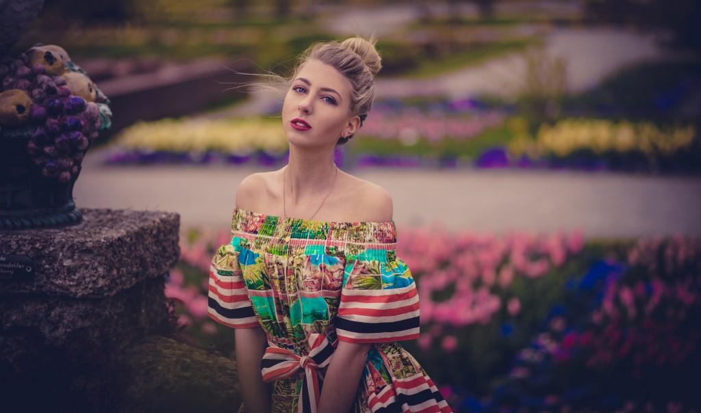 botanischer Garten München  kleid asos fashion blog münchen