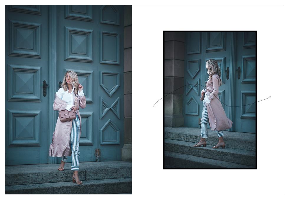 rosa Mantel hm Frühling Pastell umhängegurt Tasche lifestyle blog münchen
