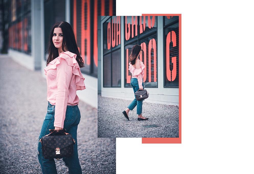 rüschen bluse pochette Metis louis vuitton getragen fashion blog münchen