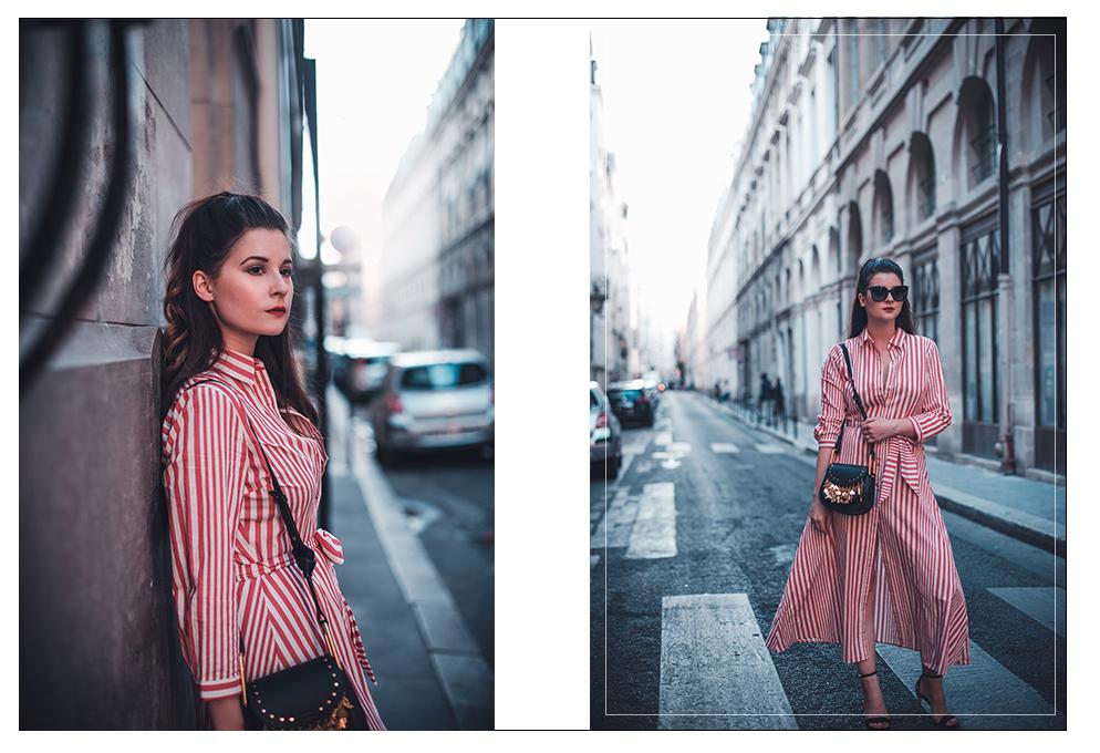 paris hemdkleid rot weiß gestreift fashion blog münchen