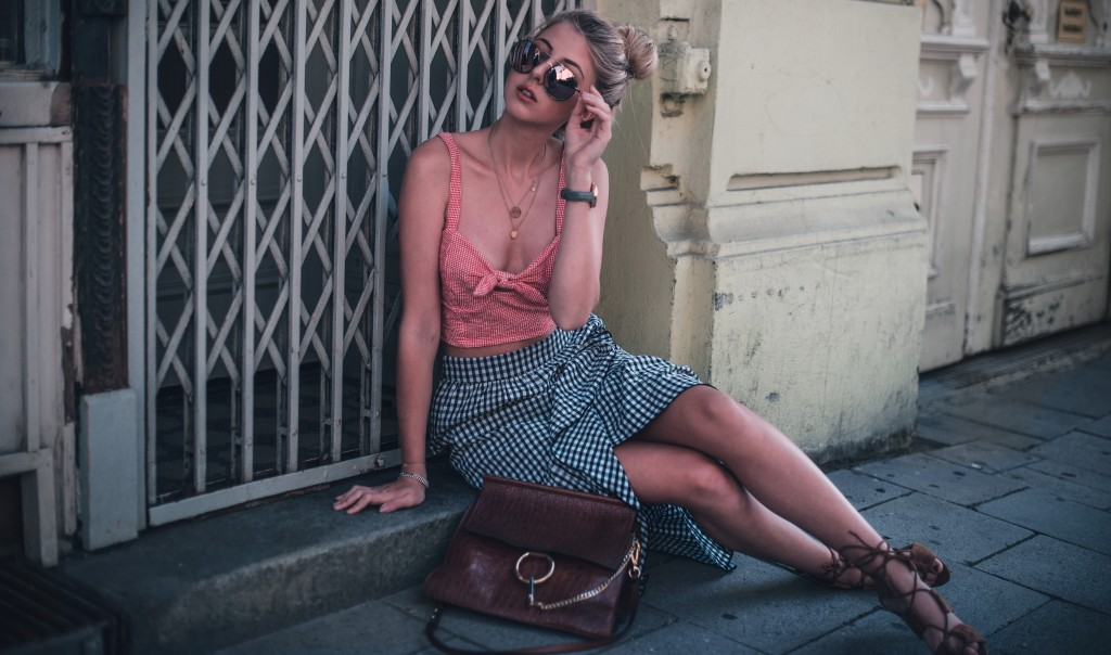 vichy karo rock top mango fashion blog münchen
