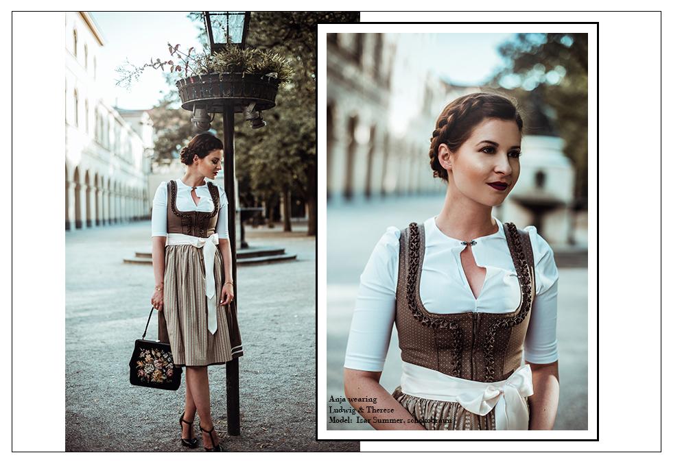 ludwig Therese Dirndl Isar  Summer schoko braun Tracht Erfahrungen Kollektion fashion blog München