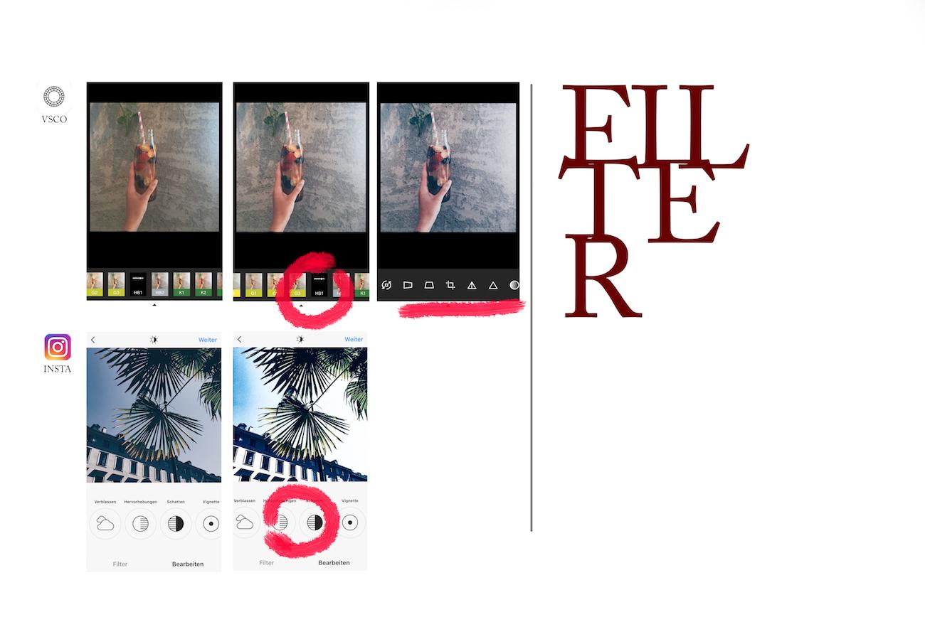 vsco filter Instagram bearbeiten schöner Instagram feed
