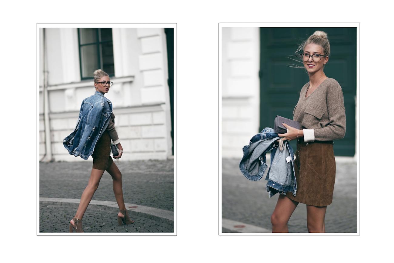 mango rock Velours braun aigner carrie fashion blog münchen