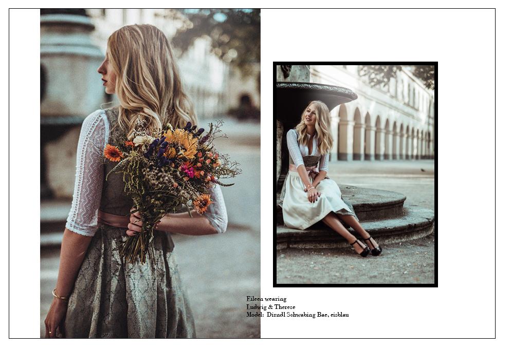 ludwig Therese Dirndl SChwabing bae eisblau Tracht Erfahrungen Kollektion fashion blog München