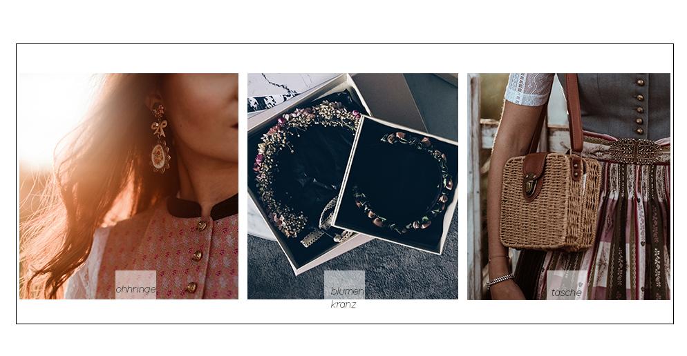 dirndl accessoires bast tasche blumenkranz fashion blog münchen